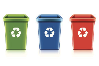 Office Recycling Containers and Waste Receptacles