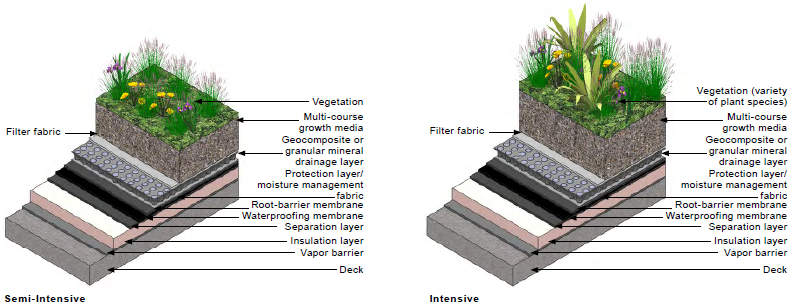 Intensive Green Roof Types