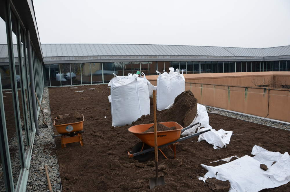 National Foreign Affairs Training Center Green Roof Soil Installation